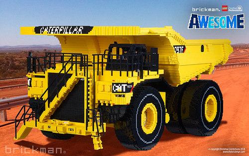 Lego Caterpillar 797 Truck