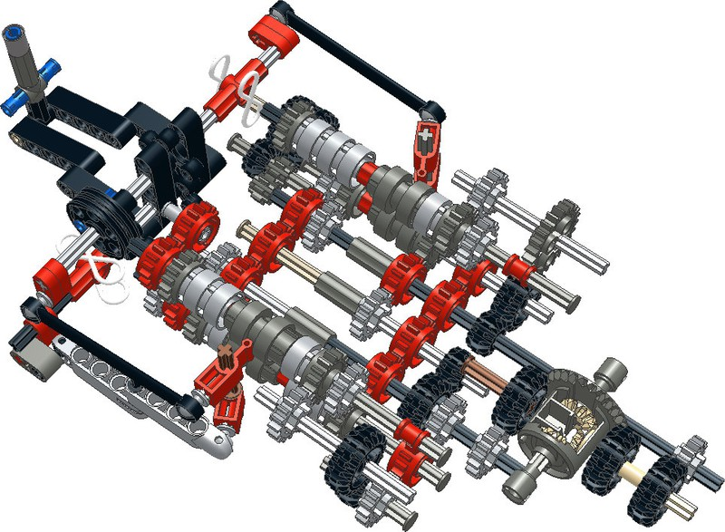 Lego Technic Sequential Gearbox Instructions | THE LEGO CAR BLOG