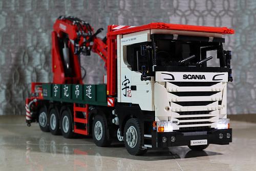 Lego Scania R490 Crane Truck