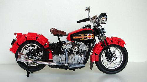Lego 1936 Harley Davidson 'Knucklehead' Motorcycle
