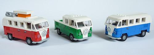 Lego VW Type 1 Camper, Bus, Pick-Up