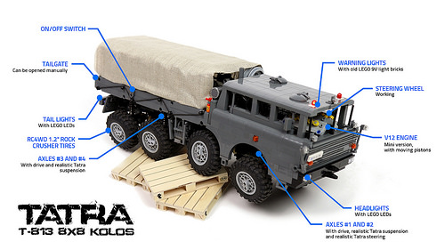 Lego Tatra 8x8 Truck Trial