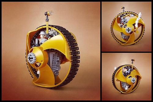 Lego Steampunk Monowheel