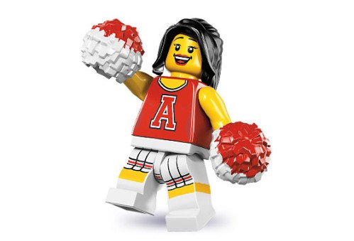 Lego Cheerleader Red
