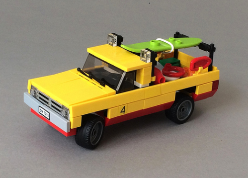 Lego Dodge Ram Baywatch