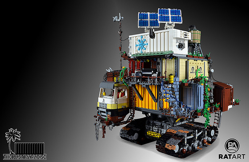 Lego Tracked Container Town
