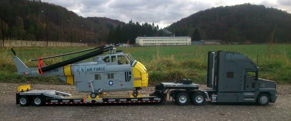Lego Mack Anthem Truck & Sikorsky H19 Helicopter