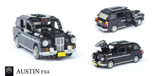Lego Austin FX4 London Taxi