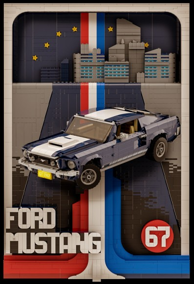 Lego 10265 Ford Mustang Poster