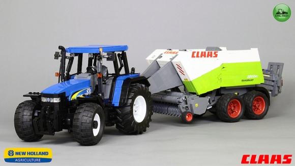 Lego New Holland TM140 + Claas Quadrant 2200